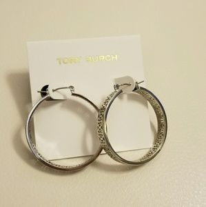 Tory Burch large Kinsley hoop earrings